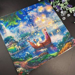 Rapunzel Thomas Kinkade Decorative Pillowcase